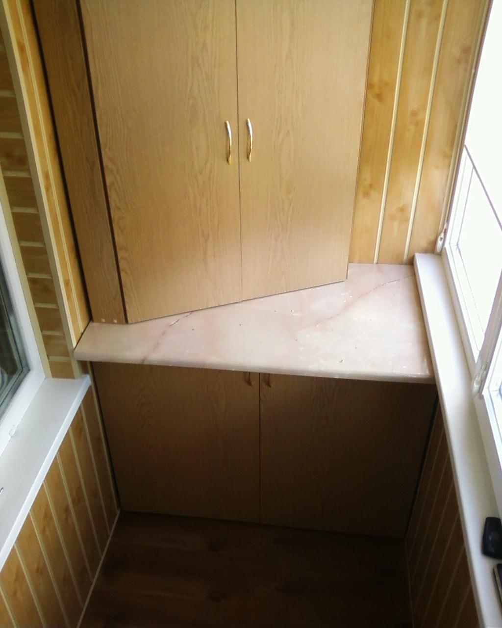 Сделать угловой шкаф на лоджии своими руками.